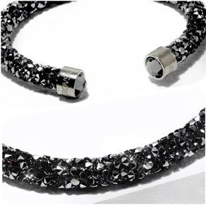 Swarovski® Black Crystaldust Cuff Bracelet